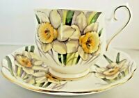 Royal Albert Flower of Month Daffodil March Bone China Footed Tea Cup & Saucer