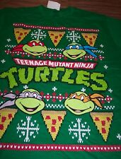 TEENAGE MUTANT NINJA TURTLES CHRISTMAS SWEATER STYLE T-Shirt MEDIUM NEW w/ TAG