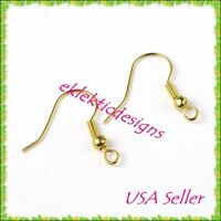 40pcs BRASS Antique Bronze French Hook Wire Bead /& Coil Earrings 20pr Findings