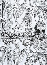 CAN CAN~Paris~Day of Dead~ Alexander Henry~SKELETONS~TOILE~Fabric w~per 1/2 yard