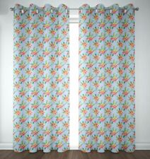 S4sassy Floral Plumeria &  Printed Eyelet Door Panel Curtains -FL-650I