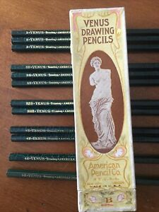 Vintage Venus Drawing Pencils And Box American Pencil Company Variety