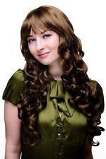 wig Me Up! CHEVEUX Longs BROWN / BRUNETTE Perruque Femmes Boucles 7633-10 65cm
