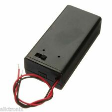 9V Battery Box Pack Holder With wires and ON/OFF Power Switch Toggle
