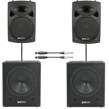 Astounded Soundblaster 1800W Active Speaker Solo/Duo DJ Band PA System