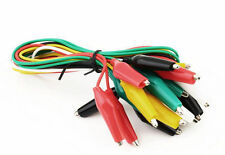 5pcs Double-ended Test Leads Alligator Crocodile Roach Clip Jumper Wire