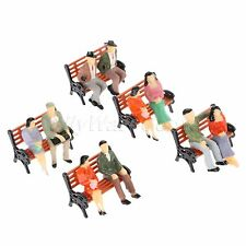 5x Model Park Benches Platform Settee Seat Miniatures Train Scenery Layout 1:50