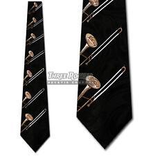 Trombone Tie Musician Neckties Mens Instruments Brass Neck Ties NWT