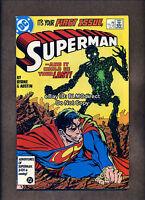 1987 Superman #1 Origin Metallo VF/NM First Print DC Comics With Postcard