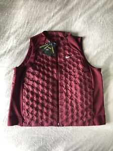 Nike Women's AeroLoft Running Vest Packable Maroon/Silver CZ1607-638 NWT XL