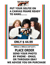 Selfie Photo to Canvas Framed Favourite Team Baby Pics School Pet Dog Print