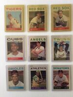 lot of 9 1964 topps cards all vg / ex - ex / nr mint