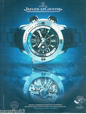 PUBLICITE ADVERTISING  016  2008  Jaeger-Lecoultre montre Master compressor Divi