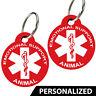 ESA -Emotional Support Animal ID Tags. Personalized, Premium Aluminum (Set of 2)