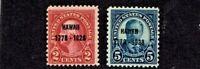 "1928 U.S. CLASSIC ""Hawaii"" Overprint 2c and 5c SET  Sc#647-8 M/NH/OG ** Pristine"