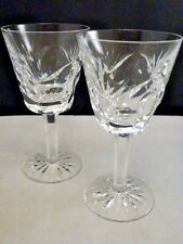 "Waterford crystal ""ASHLEY"" pattern WINE  glasses 2 pieces SET  OF 2 PERFECT"