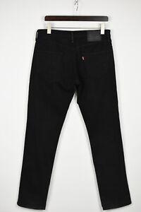 LEVI STRAUSS & CO. 511 Men's W33/L34 Stretchy Black Slim Fit Jeans 36603_GS