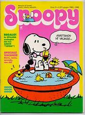 SNOOPY mensile N.6 Rizzoli 1988 peanuts calvin hobbes sansone leo verdura schulz