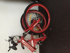 Mountain bicycle / bike fold away red