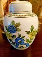 """6""""-Vintage Gold Trimmed Japanese Vase Andrea By Sadek Floral Vase with Lid #9004"""