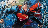 Superman Oil Painting DC Comics Art Hand-Painted Canvas NOT a Print 24x40