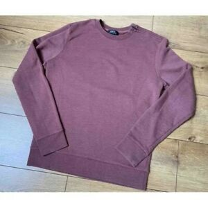 APC Navy Spell Out Sweatshirt Size Large Brand New Authentic