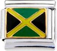JAMAICA JAMAICAN FLAG Enamel Italian 9mm Charm PE020 Fits Nomination Classic