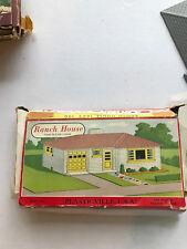 Vintage Bachmann Train Building Ranch House Plastic AS IS