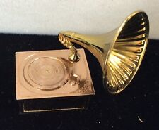 dollhouse miniature metal phonograph vintage / old store stock mint condition