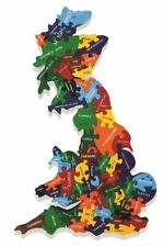 Map of Britain - Wooden Jigsaw Puzzle - Chunky, Bright & Educational - 47x25cms