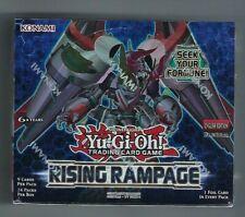 Yugioh Rising Rampage 1st edición Booster Box Inglés Sellado de fábrica