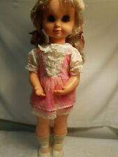 """VintagWind-Up Musical Twist n Turn 18"""" Doll-Plays Lullaby-Eyes open and close"""