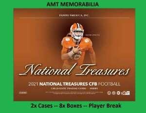 Tom Brady 2021 Panini National Treasures Collegiate 2X CASE 8X BOX BREAK #1