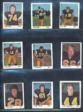 1971 Sargent Promotions Stamps CFL Football EX/EX+ lot of 106 diff stamps 40208
