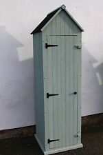Outdoor Large Brighton Garden Wooden Storage Cabinet or Tool Shed In Sage Green
