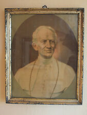 Berliner Leiste / Waschgold Rahmen - Litho - wohl Papst Leo XIII - ca 1890