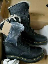 Genuine Dr Martens Aimilita Black Faux Fur Leather Boots UK 5 EU 38 RRP £169