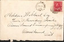 Cover Canada -1914-  Shallow Lake Ontario cancellation  on S/C #106 *Free Ship*