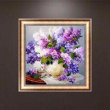 Lavender 5D Diamond Embroidery DIY Craft Painting Cross Stitch Mosaic Home Decor