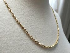 "14k Yellow Gold Chain Necklace Sign BBB 13.8g Rope Twist 20.5"" Solid 2.5mm NICE!"