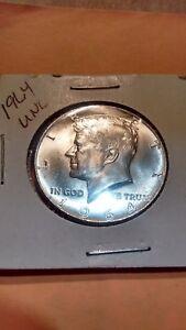 1964 silver kennedy half dollar]  LAST YEAR oF  SILVER