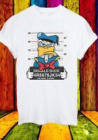 Disney Donald Duck Mugshot Cartoon Character Funny Men Women Unisex T-shirt 636