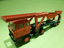 LION CAR 58 + 50 DAF TRUCK 2800 + CAR TRANSPORTER 1:50 - RARE RARO - VERY GOOD