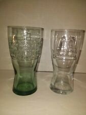 Vintage 1948 & 1992 McDonalds 15 Cent Hamburger Collector Teal & Clear Glass