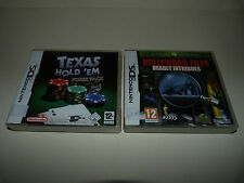 TEXAS HOLD'EM POKER + HOLLYWOOD FILES D. INTRIGUES - Lot 2 jeux NINTENDO DS 3DS