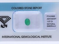 natürlicher 1,07 Karat Smaragd Oval green IGI Expertise
