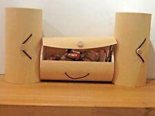 JOBLOT 20 Birch wood Veneer Cylinder Bark Boxes Gift favor Decoupage MED BN