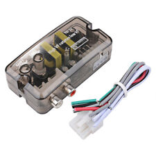 Car Stereo Audio RCA Line Output Speaker Level Converter Adaptor High To Low