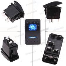 2pc 5-Pin 12V 20A Bar Rocker Toggle Switch ON-OFF Blue LED Light Auto Car Boat
