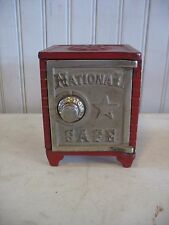 Antique Cast Iron Still Bank National Safe Combination Lock Pressed Metal Toy